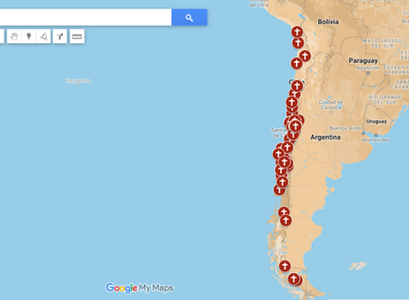 Mapa chileno de los delitos de abuso sexual y de conciencia cometidos en entornos eclesiásticos.