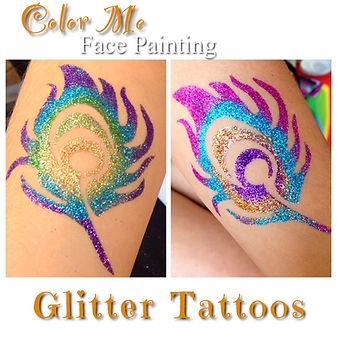 Peacock Glitter Tattoos