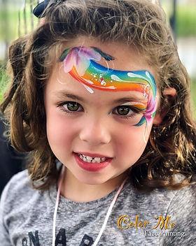 Such a cutie! 🌈 #facepaint #colormeface