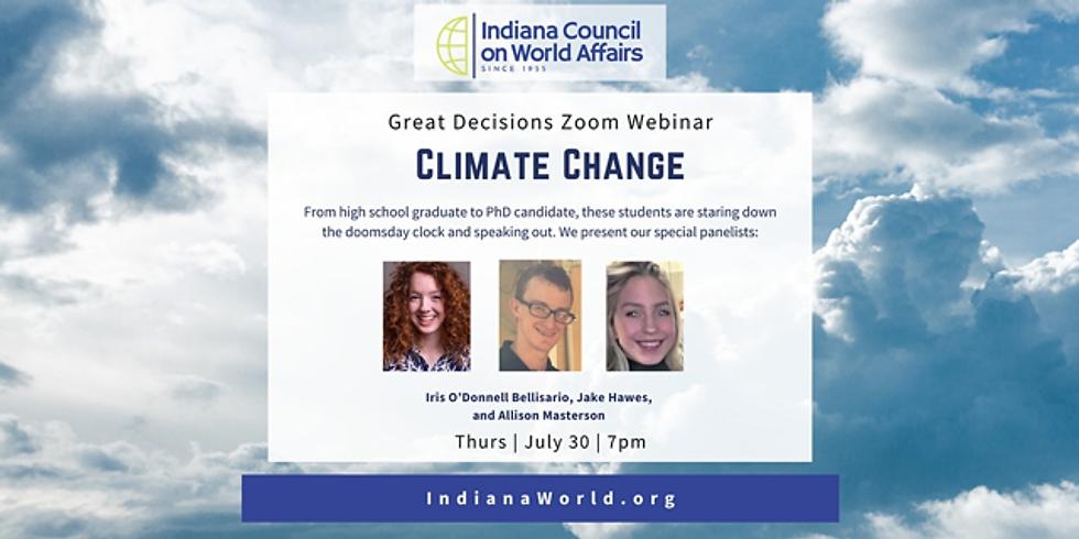 Great Decisions Program: Climate Change