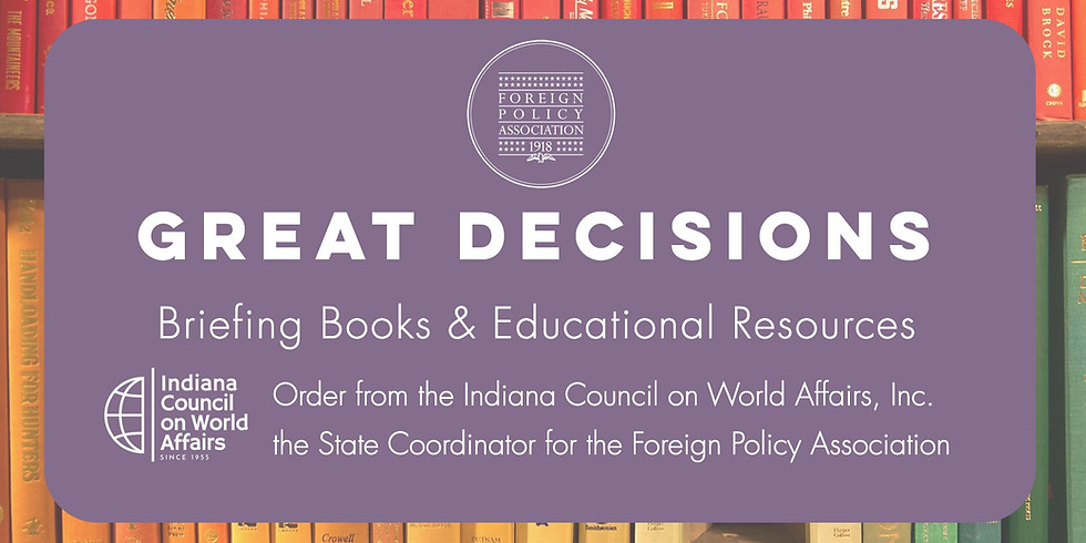 Great Decisions Briefing Book