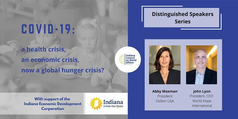COVID-19: a health crisis, an economic crisis, now a global hunger crisis?