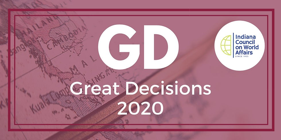 Great Decisions 2020 Briefing Book Order (facilitated by ICWA)