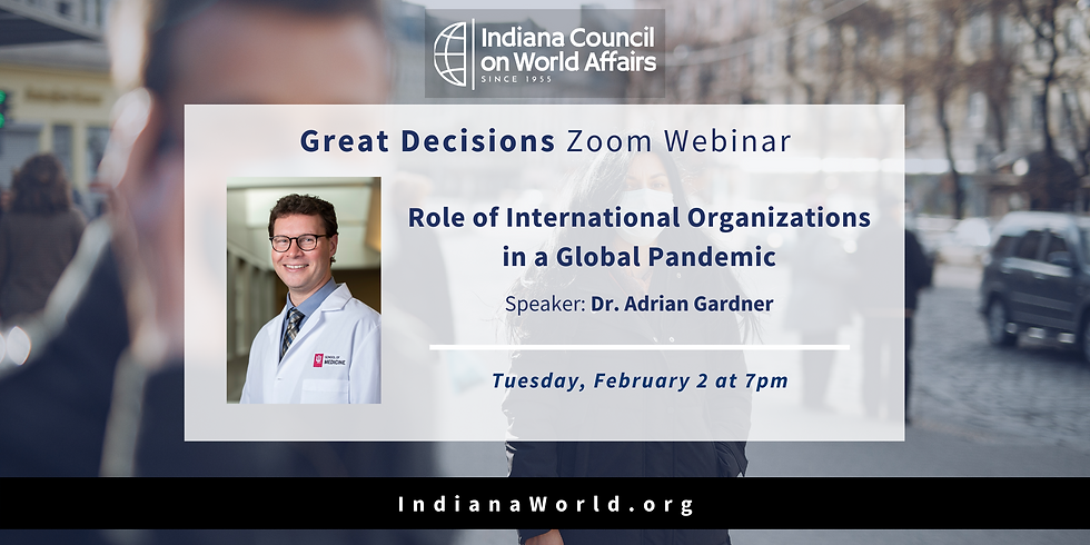 GD: Role of International Organizations in a Global Pandemic
