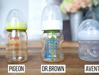 【奶樽比較2019】Dr Browns、Pigeon、Philips Avent,仿母乳寬口奶樽大比拼