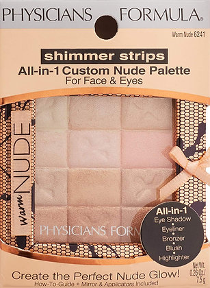 PHYSICIANS FORMULA - SOMBRAS SHIMMER STRIPS ALL-IN-1 PALETTE WARM NUDE