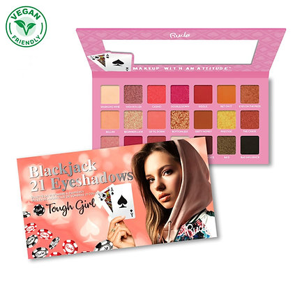RUDE COSMETICS - SOMBRAS 21 COLORES BLACK JACK TOUGHT GIRL