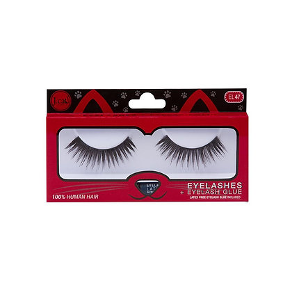JCAT BEAUTY - EL47 EYELASHES + EYELASH GLUE