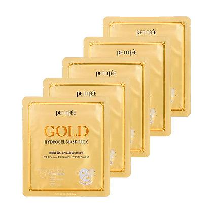 PETITFEE - MASCARILLA GOLD HYDROGEL 5 UND
