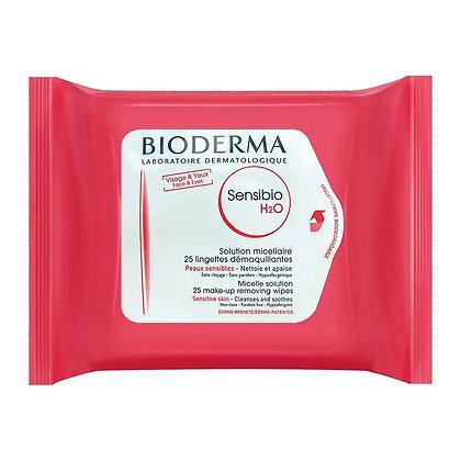 BIODERMA - TOALLAS DESMAQUILLANTES BIODERMA SENSIBIO H2O X 25UND