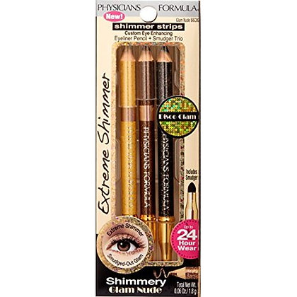 PHYSICIANS FORMULA - SHIMMER STRIPS DISCO GLAM PENCIL + SMUDGER  TRIO GLAM NUDE
