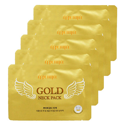 PETITFEE - MASCARILLA DE CUELLO GOLD HYDROGEL ANGEL WINGS 5 UND