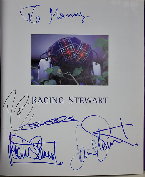 Racing Stewart the birth of a Grand Prix Team.