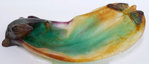 Daum Pate De Verre Glass Dish
