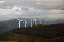 Windturbines in de bergen