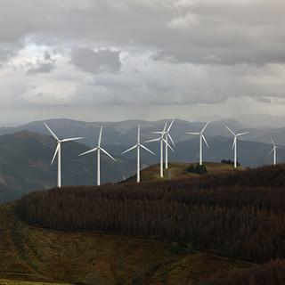 Vindkraftverk i bergen