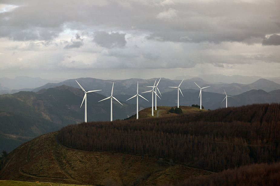 Wind Turbines in the Mountains
