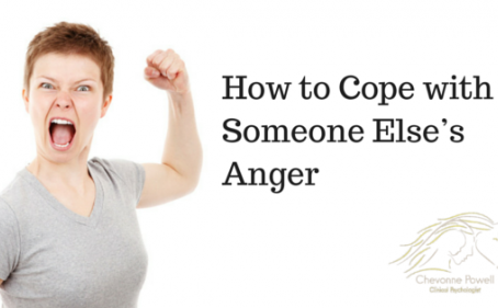 How to cope with someone else's anger