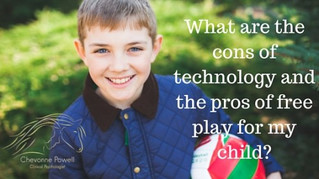 What are the cons of technology and the pros of free play for my child?