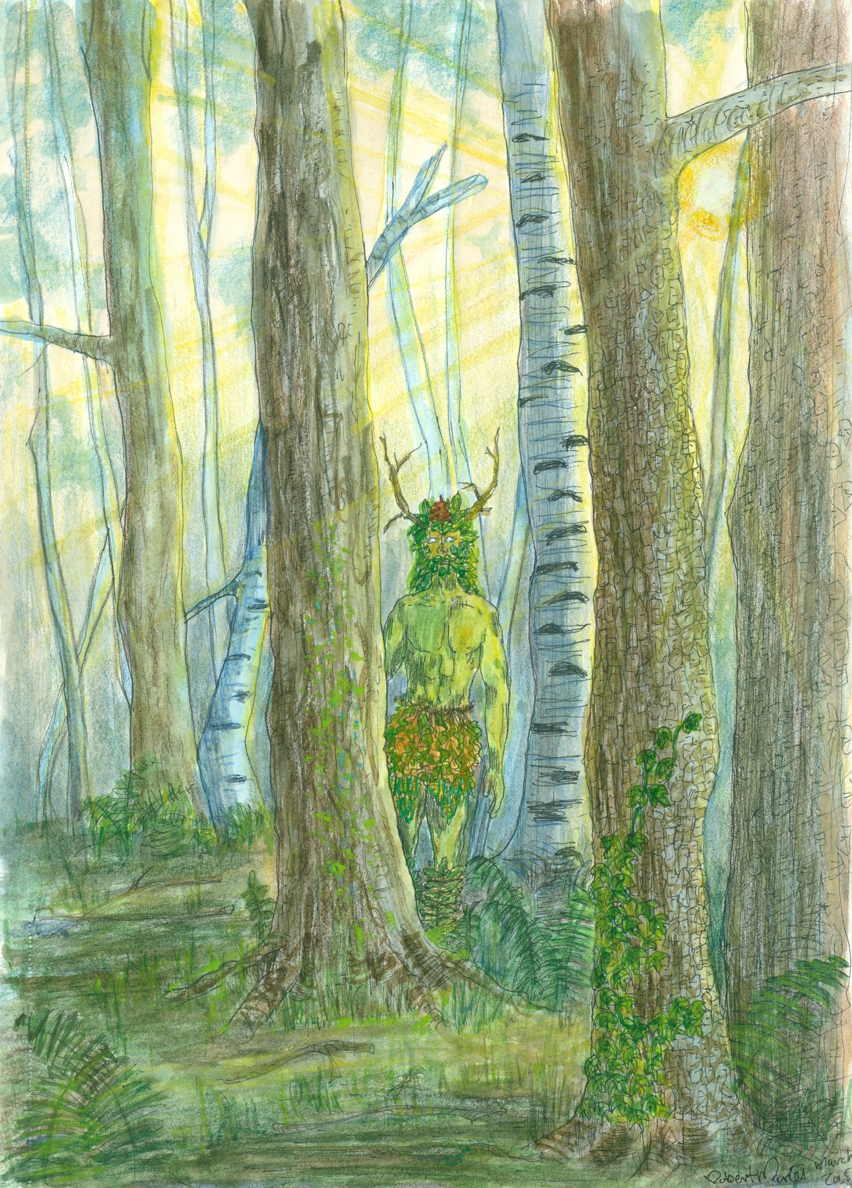 Greenman in his Forest