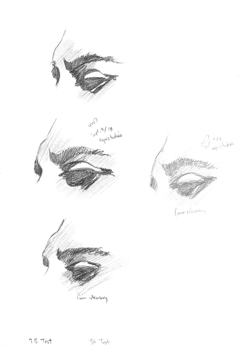 Eyes 1, graphite sketch