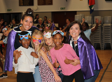 Superheroes visit Clarendon Primary