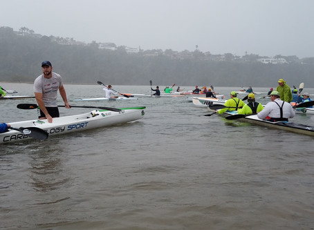 Paddlers battle the elements for favourable son