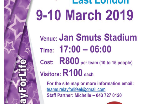 CANSA Relay For Life 2019