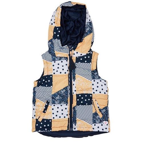 Patchwork Puffer Vest