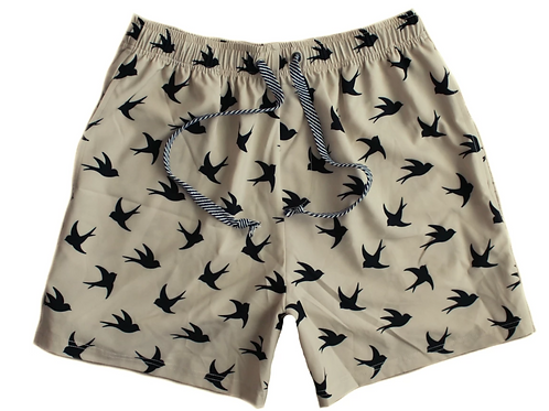 Dad's Matching Boardies - Oak Swallow