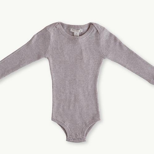 Ribbed Essential Bodysuit - Lilac Cloud