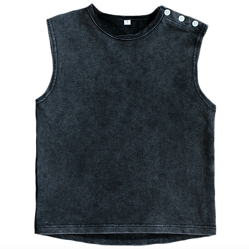 Muscle Tank - Acid Black