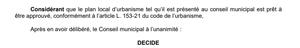 Extrait du compte-rendu de la séance du conseil municipal du 17 décembre 2018 sur l'approbation du plan local d'urbanisme de la commune de Dinard