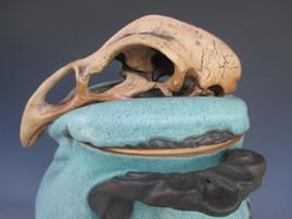 Chicken Skull Sculpture
