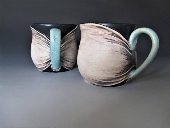Gathered Skin Mugs
