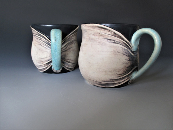 Gathered Skin Mugs