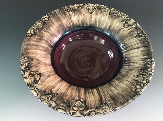Purple Serving Bowl