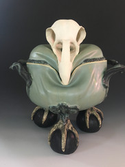 Chicken Skull Serving Dish