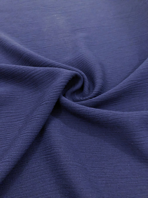 Crinkled Viscose - Navy