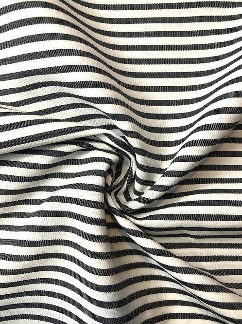 Pewter Stripe Cotton Shirting