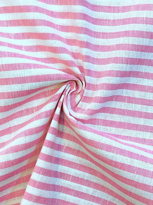 Ex Designer Candy Stripe Cotton Linen