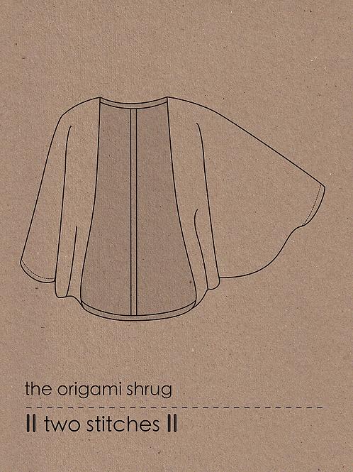 Two Stitches Ladies Origami Shrug