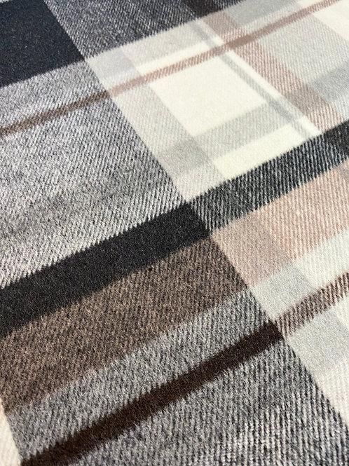 Brushed Check Wool Coating