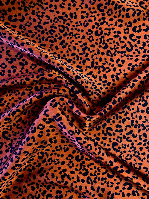 Rust Leopard Satin