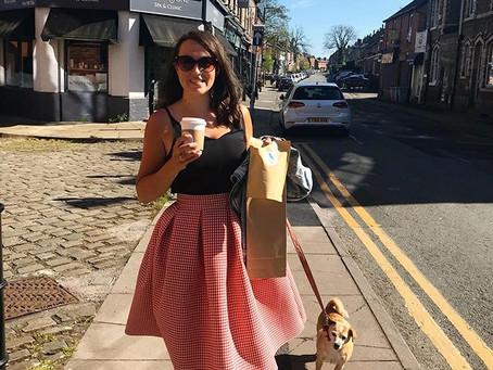 DIY Box Pleated Skirt