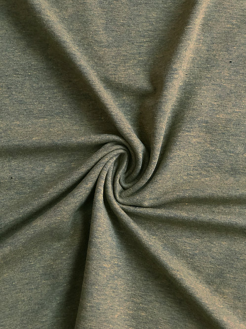 Olive Marl Cotton Jersey
