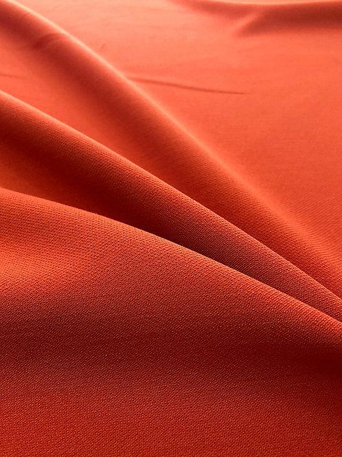 Ex Designer Burnt Orange Viscose Stretch
