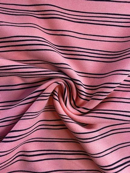 Irregular Stripe Organic Cotton Jersey