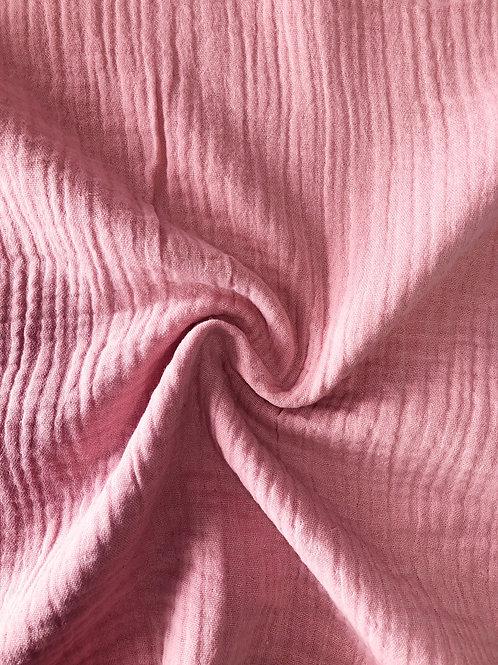 Cotton Double Gauze - Rose