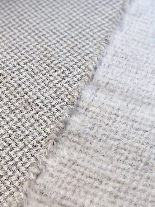 Grey Houndstooth Wool Blend